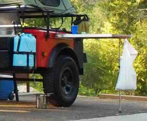 Jeep Trailer Side Table from Dinoot Trailers